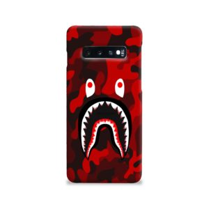 Camo Red Bape Shark for Samsung Galaxy S10 Case
