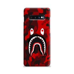 Camo Red Bape Shark for Samsung Galaxy S10 Plus Case
