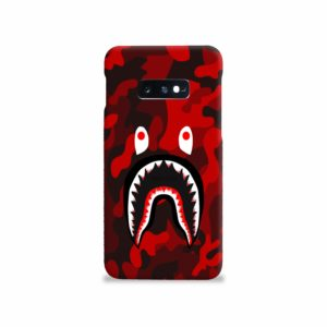 Camo Red Bape Shark for Samsung Galaxy S10e Case Cover