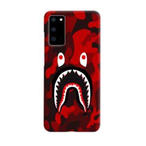 Camo Red Bape Shark for Samsung Galaxy S20 Case Cover