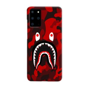 Camo Red Bape Shark for Samsung Galaxy S20 Plus Case
