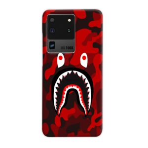 Camo Red Bape Shark for Samsung Galaxy S20 Ultra Case Cover