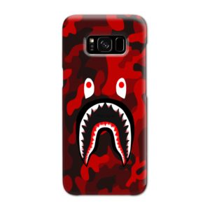 Camo Red Bape Shark for Samsung Galaxy S8 Case Cover