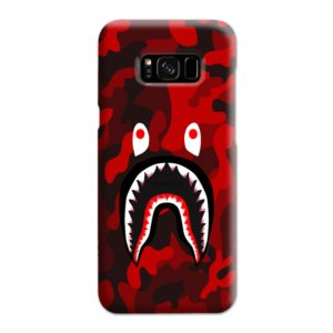 Camo Red Bape Shark for Samsung Galaxy S8 Plus Case Cover