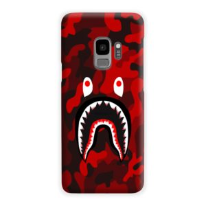 Camo Red Bape Shark for Samsung Galaxy S9 Case Cover