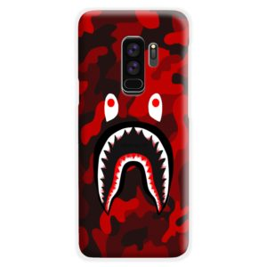 Camo Red Bape Shark for Samsung Galaxy S9 Plus Case Cover