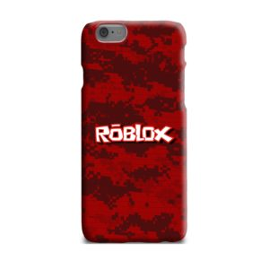 Camo Red Roblox for iPhone 6 Plus Case Cover