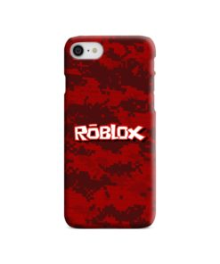 Camo Red Roblox for iPhone 7 Case