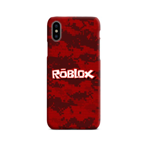 Camo Red Roblox for iPhone X / XS Case Cover