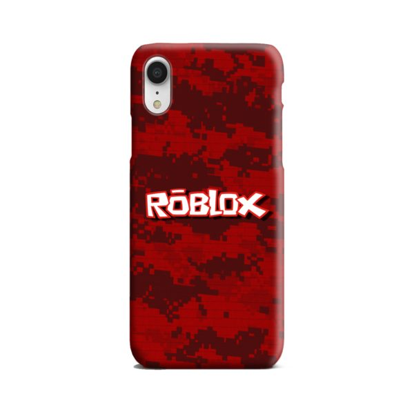 Camo Red Roblox for iPhone XR Case