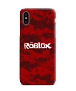 Camo Red Roblox for iPhone XS Max Case Cover