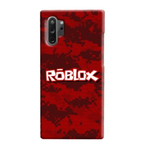 Camo Red Roblox for Samsung Galaxy Note 10 Plus Case Cover