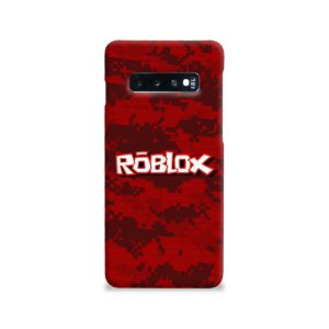 Camo Red Roblox for Samsung Galaxy S10 Case
