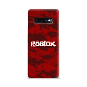 Camo Red Roblox for Samsung Galaxy S10 Plus Case
