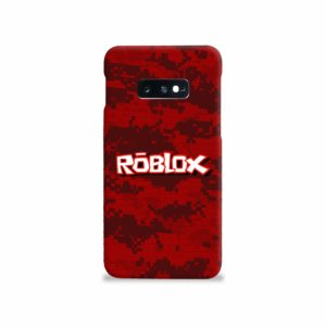 Camo Red Roblox for Samsung Galaxy S10e Case Cover