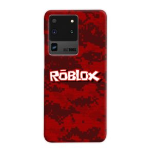 Camo Red Roblox for Samsung Galaxy S20 Ultra Case Cover