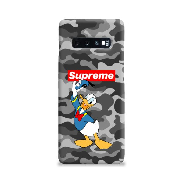 Donald Duck Supreme Camo Samsung Galaxy S10 Plus Case