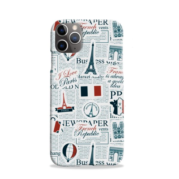 France Eiffel Tower Art for iPhone 11 Pro Case Cover