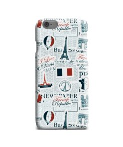 France Eiffel Tower Art for iPhone 6 Case