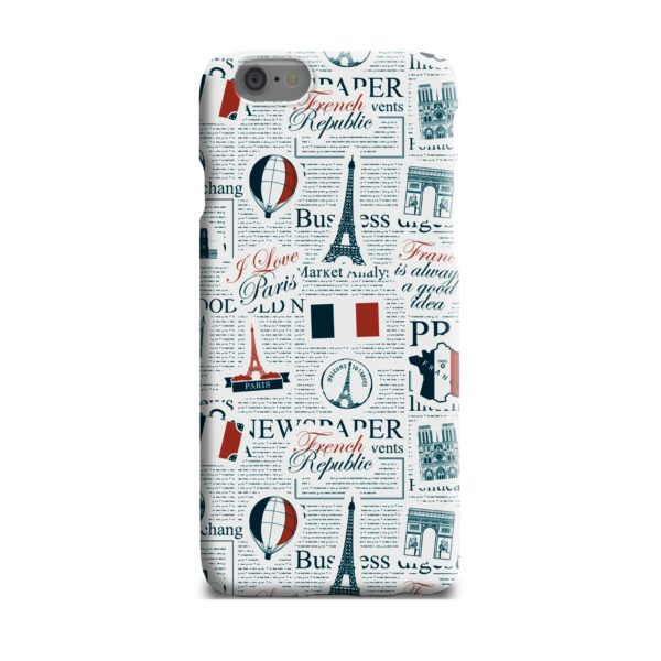 France Eiffel Tower Art for iPhone 6 Plus Case