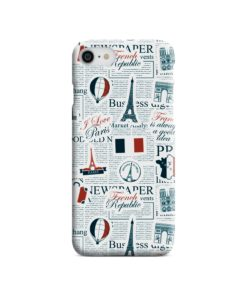 France Eiffel Tower Art for iPhone 7 Case Cover
