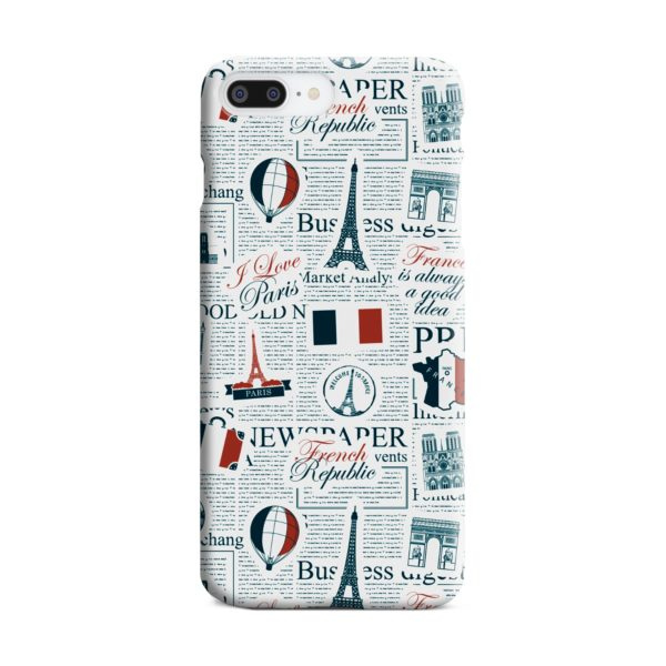 France Eiffel Tower Art for iPhone 7 Plus Case