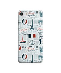 France Eiffel Tower Art for iPhone 8 Case