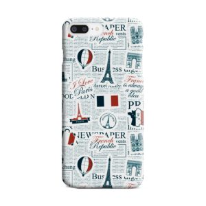 France Eiffel Tower Art for iPhone 8 Plus Case Cover