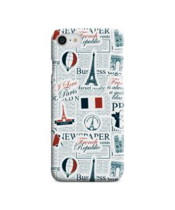 France Eiffel Tower Art for iPhone SE (2020) Case