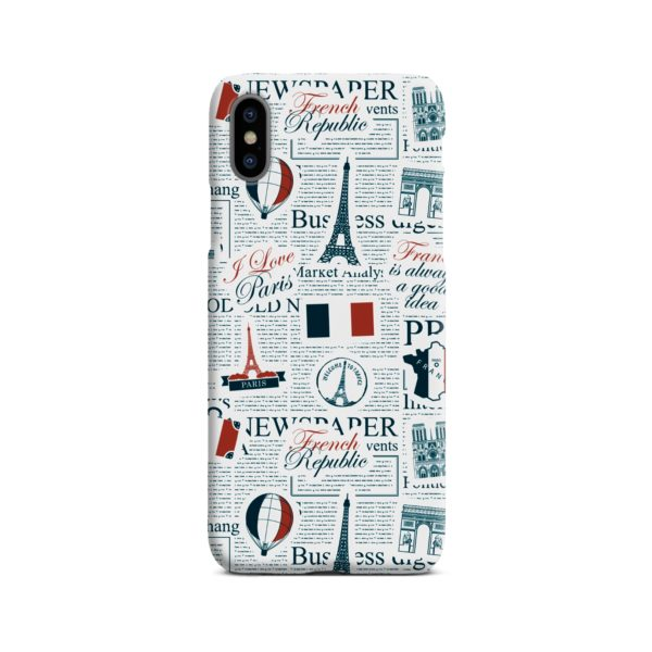 France Eiffel Tower Art for iPhone X / XS Case Cover