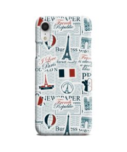 France Eiffel Tower Art for iPhone XR Case