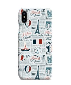 France Eiffel Tower Art for iPhone XS Max Case