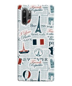 France Eiffel Tower Art for Samsung Galaxy Note 10 Case Cover