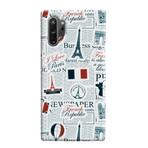 France Eiffel Tower Art for Samsung Galaxy Note 10 Plus Case Cover