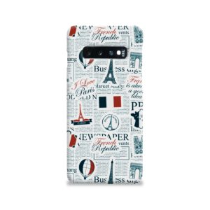 France Eiffel Tower Art for Samsung Galaxy S10 Case