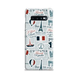 France Eiffel Tower Art for Samsung Galaxy S10 Plus Case