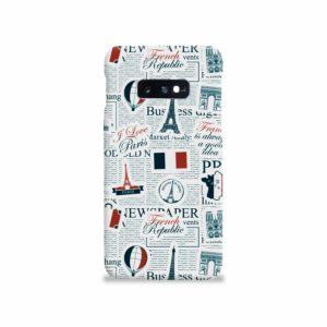 France Eiffel Tower Art for Samsung Galaxy S10e Case