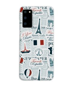 France Eiffel Tower Art for Samsung Galaxy S20 Case Cover