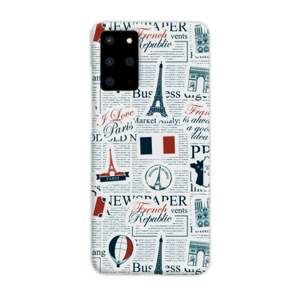 France Eiffel Tower Art for Samsung Galaxy S20 Plus Case Cover