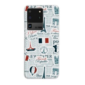 France Eiffel Tower Art for Samsung Galaxy S20 Ultra Case Cover