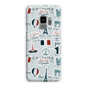 France Eiffel Tower Art for Samsung Galaxy S9 Case Cover