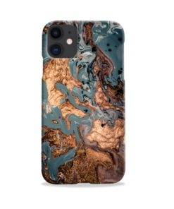 Golden Black Marble with Veins for iPhone 11 Case