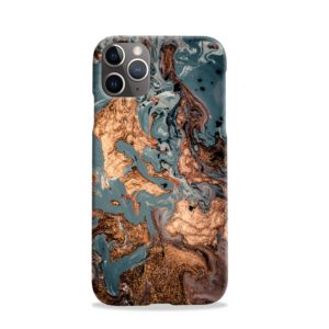 Golden Black Marble with Veins for iPhone 11 Pro Case Cover