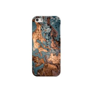 Golden Black Marble with Veins for iPhone 5 Case