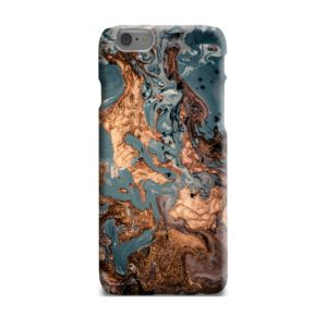 Golden Black Marble with Veins for iPhone 6 Plus Case Cover