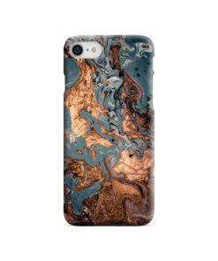 Golden Black Marble with Veins for iPhone 8 Case