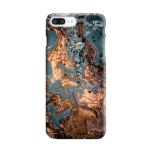 Golden Black Marble with Veins for iPhone 8 Plus Case