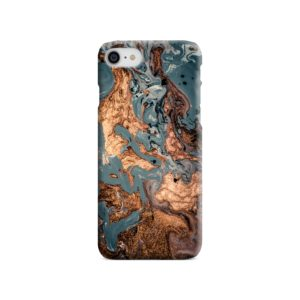 Golden Black Marble with Veins for iPhone SE (2020) Case