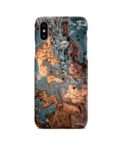 Golden Black Marble with Veins for iPhone X / XS Case Cover