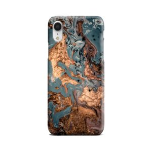 Golden Black Marble with Veins for iPhone XR Case